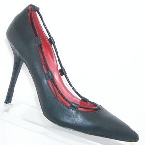 Charles Jourdan 'Oke' black leather heels 8.5M